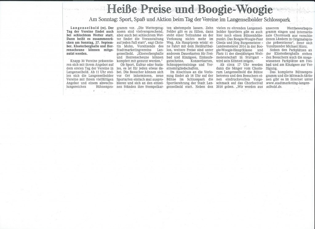 GNZ 25.09.15 Heiße Preise und Boogie-Woogie